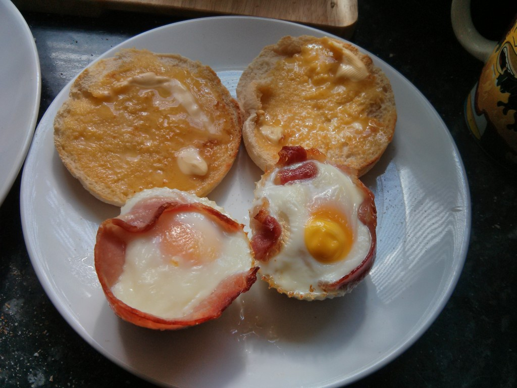 Baked Bacon and Eggs