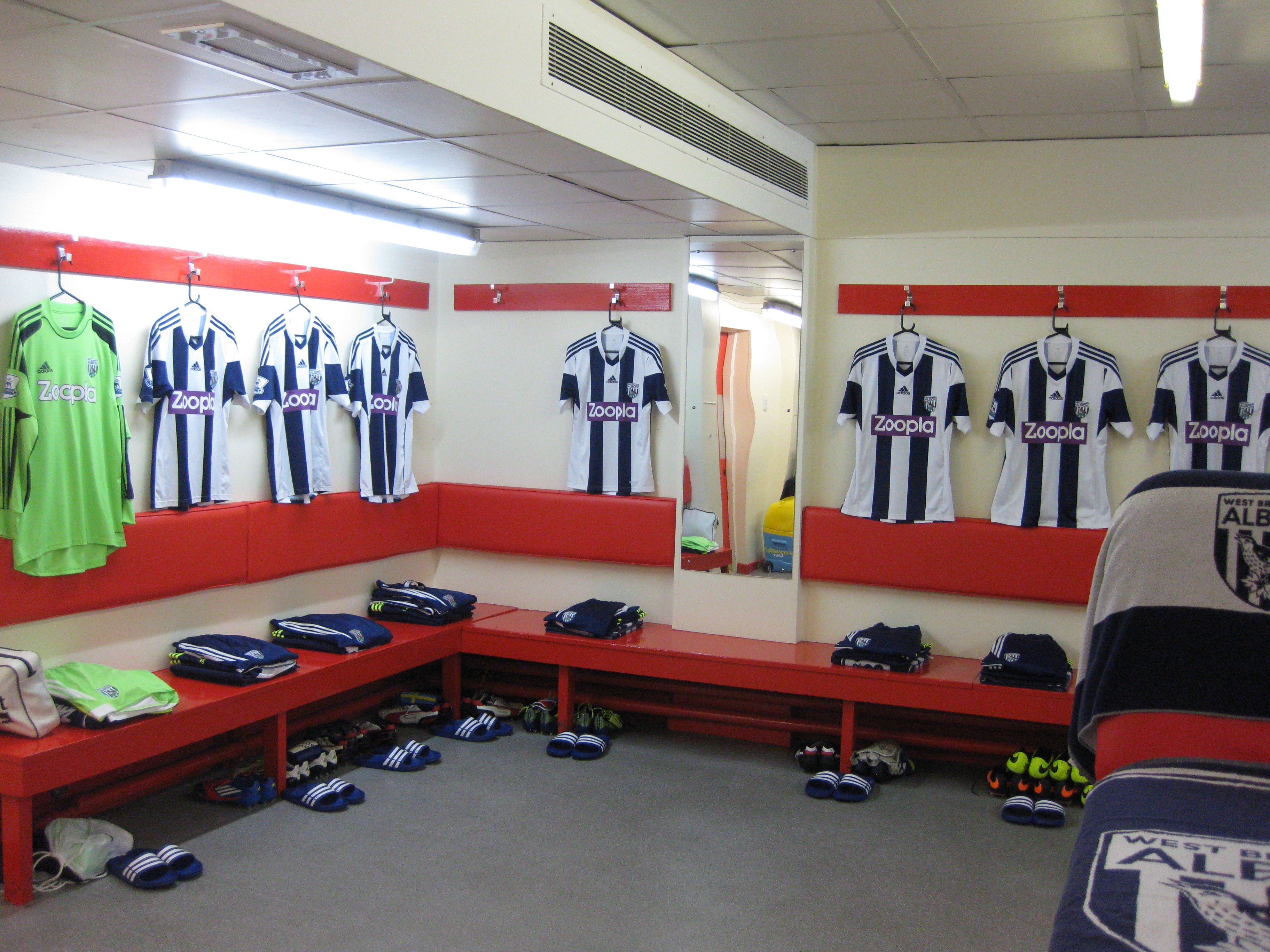 West Brom Locker Room