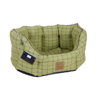 House-of-Paws-Tweed-Oval-Dog-Bed-in-Green