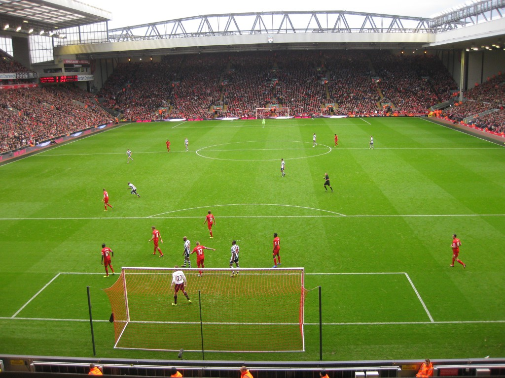 Liverpool vs. West Brom - facing the Kop