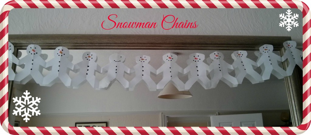 Easy and inexpensive christmas papercrafts mum 39 s the word for Snowman paper chain template
