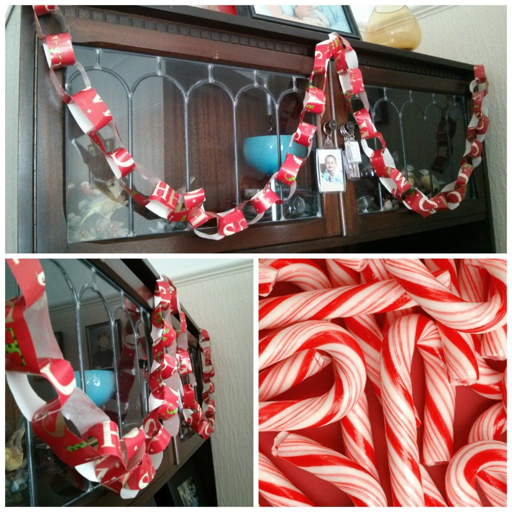 Upcycled  wrapping paper chains