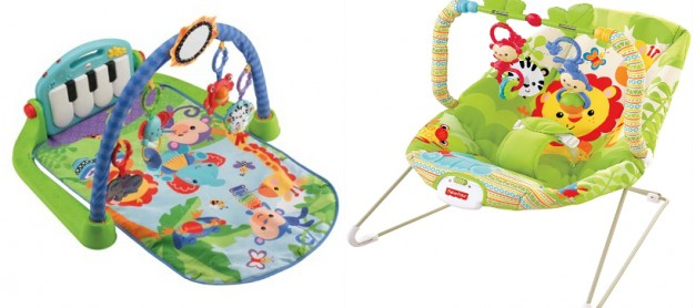 Fisher-Price Kick 'n Play Piano Gym and Rainforest Friends Bouncer Review