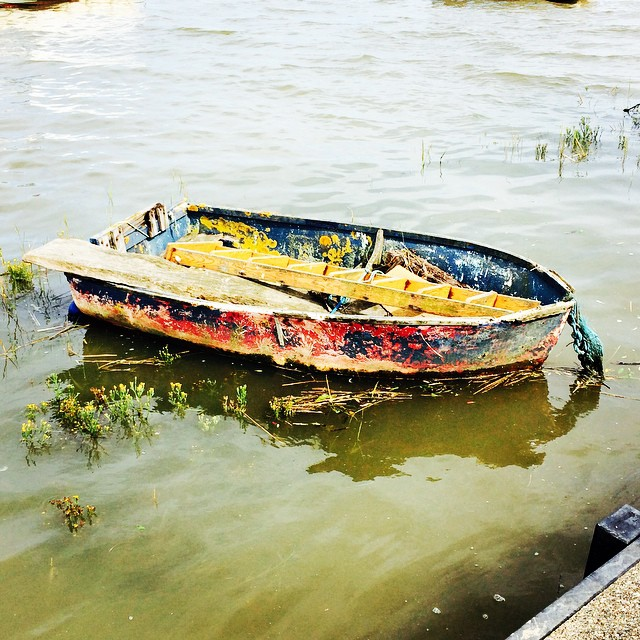 I had to take a photo of this boat - it looked like a 3D oil painting! #latergram
