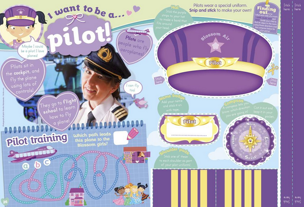 Blossom I want to be a pilot