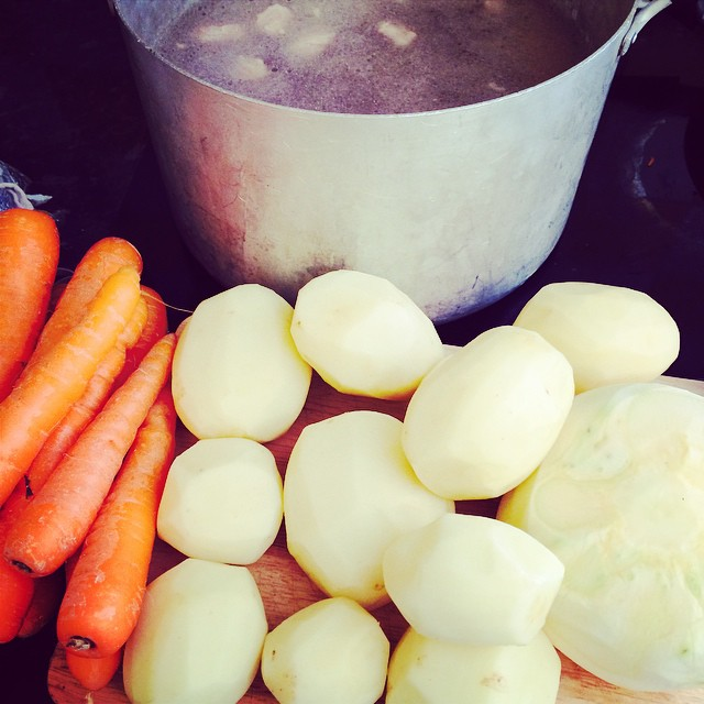 We're having lamb stew today. What's your favourite Sunday comfort food?