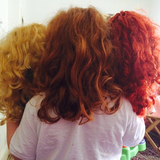 I do love the way Edith and her two dolls make a perfect hair colour chart!
