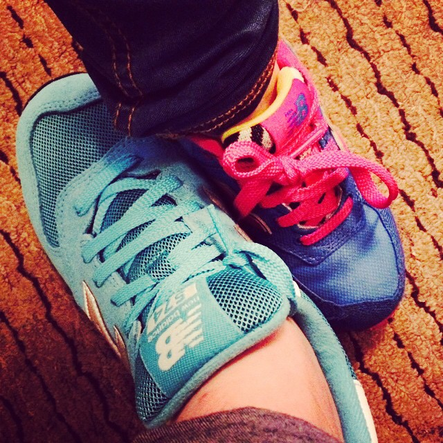 Me and my biggest girl, rocking our New Balance. #lovetrainers