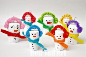Cork Snowmen