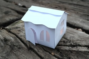 Christmas Battery Operated Tealight Houses