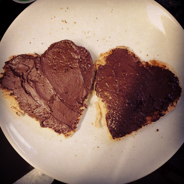 Apparently only heart shaped toast would suffice for the biggest girl, today...
