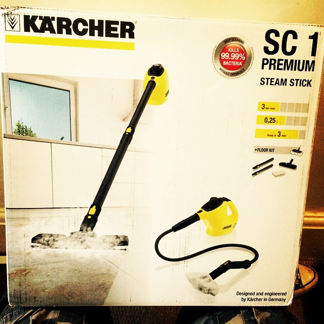 Did I tell you? We've been chosen as brand ambassadors for Karcher! First test product arrived yesterday and I can't wait to try it out.
