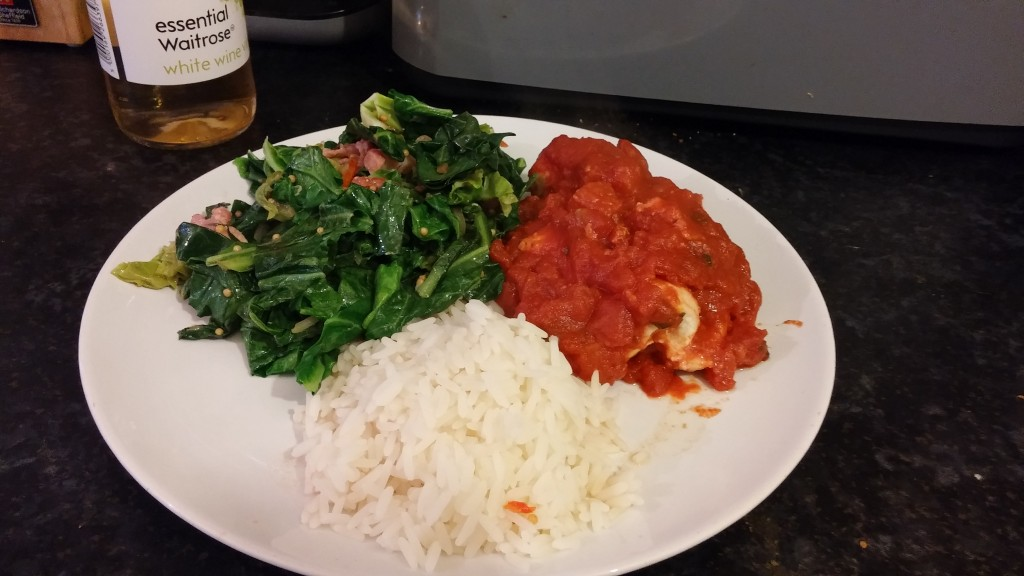 Mediterranean Chicken with Special Spring Greens and Rice
