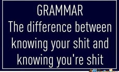 Being a Pedant.