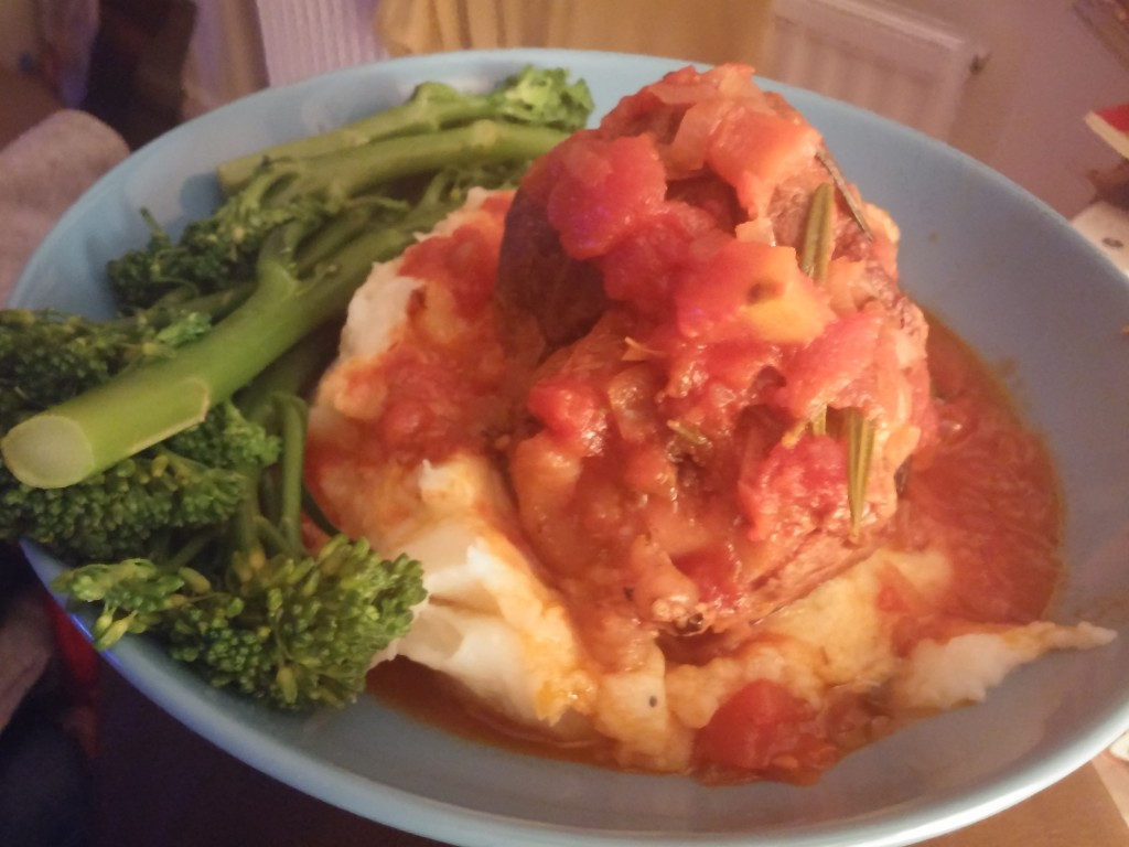 Slow Cooker Lamb Shank in Red Wine and Tomato Sauce (Agnello Brasato)