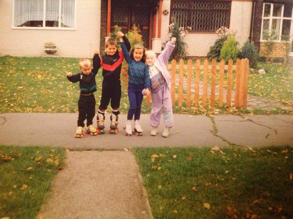 Me, the lilac shell-suit, circa 1989...