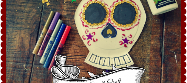 Day of the Dead Sugar Skull Craft #BostikBlogger