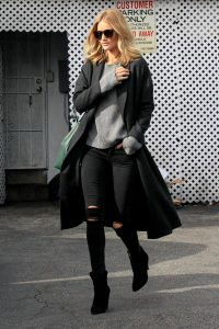 Rosie Huntington-Whiteley Looking Cosy