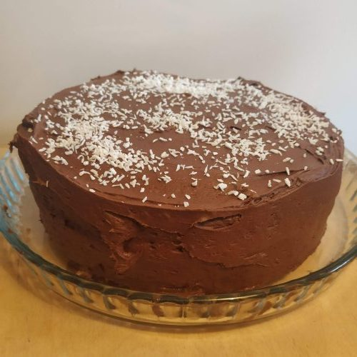 Vegan Chocolate and Coconut Cake