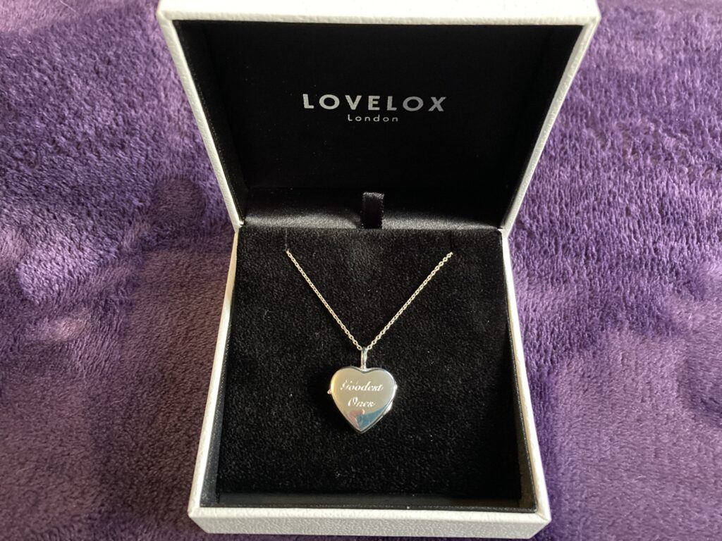 Beautifully presented personalised lockets.
