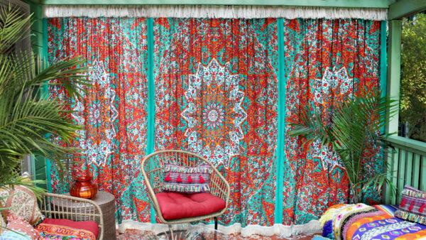 No Sew Boho Curtains DIY