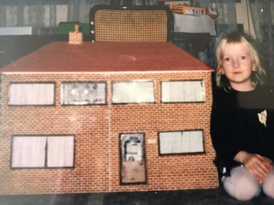 Me with my doll house